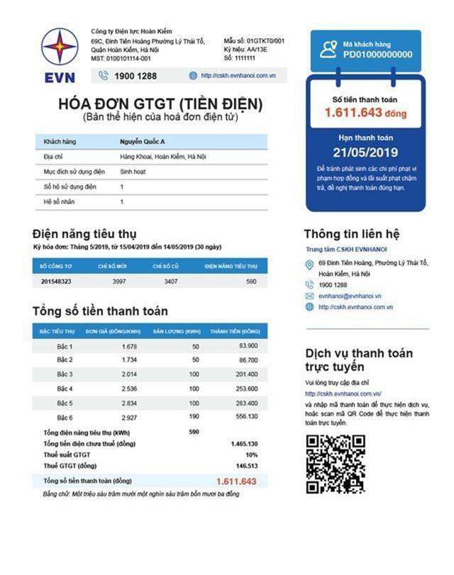 Hóa đơn tiền điện mới của EVN sắp tới sẽ ghi rõ 6 bậc giá - 2