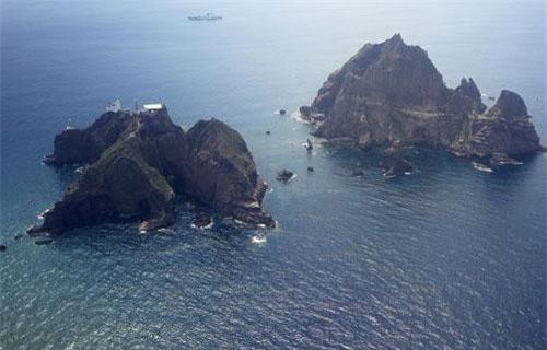 Quần đảo tranh chấp mà Hàn Quốc gọi là Dokdo còn Nhật Bản gọi là Takeshima (Ảnh: Sputnik)