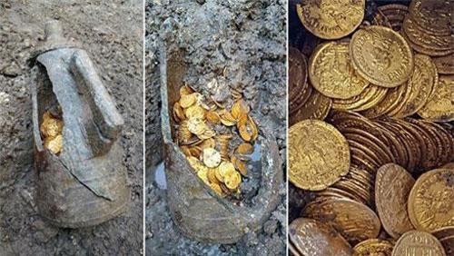 Kho báu hàng trăm đồng toàn xu bằng vàng La Mã hơn 1.500 năm ở Italy