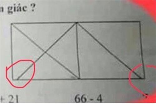 Bởi vì gạch nối góc không sát nên không thể là hình tam giác.