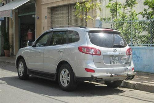 Hyundai Santa Fe đời cũ biển tứ quý 9 ở Sóc Trăng. Ảnh: Vietnamfinance.