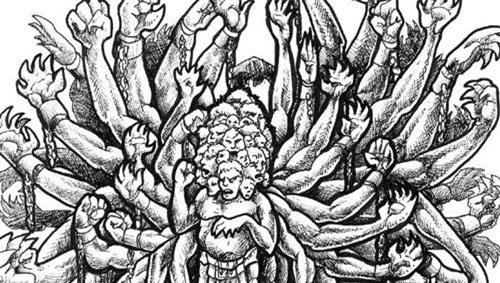 Quái thú khổng lồ 100 tay Hecatonchires hay còn gọi Hekatonkheires nổi tiếng trong thần thoại Hy Lạp với ngoại hình và khả năng phi thường.