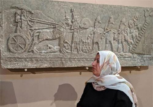 Wafaa Hassan có niềm đam mê và luôn trăn trở với các di tích lịch sử quốc gia.