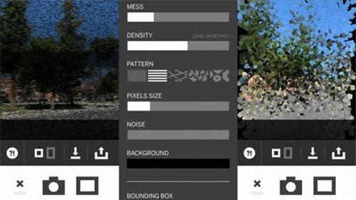 """Pixel is Data: Đây về cơ bản là một ứng dụng sửa ảnh. Sở dĩ nói """"về cơ bản"""" là vì ứng dụng này rất khác thường so với đa số các app có đầy rẫy trên App Store. Thay vì cho phép người dùng thu phóng kích cỡ, tinh chỉnh các thông số bằng các thanh trượt hoặc tương tự như vậy, thì ứng dụng này lại coi mỗi điểm ảnh là một thành phần riêng lẻ để kiểm soát, sắp xếp lại tùy ý. Điều đó có nghĩa là chỉ cần vài cú chạm trên màn hình, bạn có thể biến một bức ảnh bình thường thành một tác phẩm nghệ thuật đương đại."""