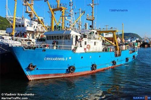 Tàu cá Nga Xianghailin-8 (Ảnh: Marine Traffic)
