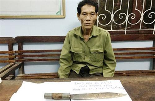 Sau khi sát hại con dâu, ông Quách Văn Dinh đã ra đầu thú tại cơ quan công an. Ảnh: HĐ