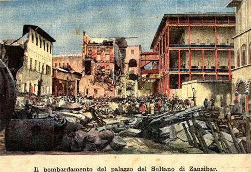 Diễn ra vào ngày 27/8/1896, trận chiến giữa Anh và Zanzibar được coi là cuộc chiến ngắn nhất lịch sử nhân loại.