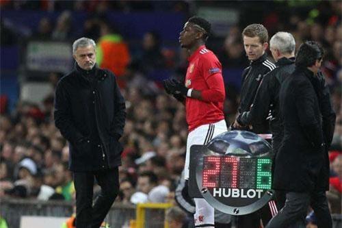 Mourinho và Pogba.