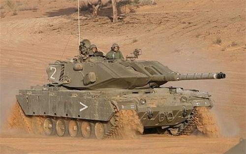 Xe tăng chiến đấu chủ lực Magach 7C của Lục quân Israel. Ảnh: IDF.