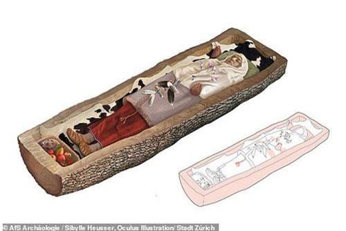 Người phụ nữ Celtic nằm bên trong quan tài bằng thân cây gỗ...