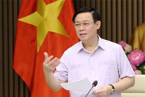 Phó Thủ tướng Vương Đình Huệ chủ trì cuộc họp. Ảnh: TTXVN.