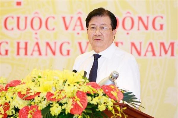 Phó Thủ tướng Trịnh Đình Dũng phát biểu tại hội nghị. (Ảnh: ĐĐK)