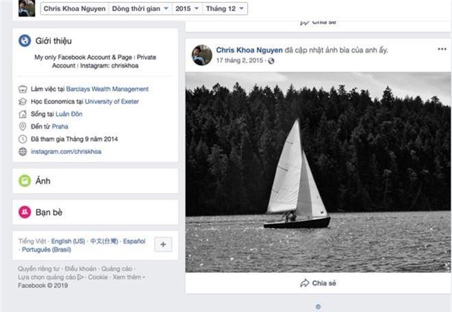 Trai đẹp học giỏi Chris Khoa khoá hết bài đăng trên Facebook, dừng cập nhật Instagram từ năm ngoái: Chuyện gì đang xảy ra? - Ảnh 4.