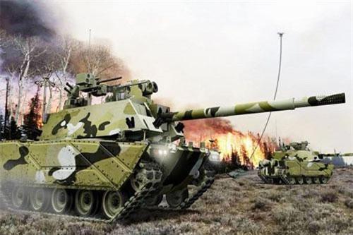 Trong một bản báo cáo mới đây, quân đội Mỹ lần đầu tiên công bố hình ảnh về khái niệm xe chiến đấu bộ binh thế hệ tiếp theo để thay thế dòng xe Bradley đã phục vụ từ cuối thế kỷ 20 tới nay. Nguồn ảnh: U.S. Army illustration courtesy of CCDC GVSC