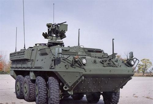 Theo một tuyên bố được đưa ra bởi Cơ quan Hợp tác An ninh Quốc phòng (DSCA), Chính phủ Thái Lan đã yêu cầu mua 60 xe vận tải bộ binh Stryker ICV; và 60 súng máy M2 Flex.( Ảnh: Xe bọc thép M1126 Stryker ICV của Mỹ).