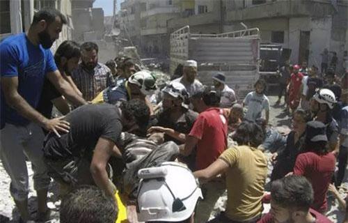 Idlib hoang tàn do chiến tranh. (Ảnh: AP)