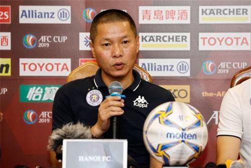 HLV Chu ĐÌnh Nghiêm tự tin trước trận chung kết lượt về AFC Cup khu vực Đông Nam Á - Ảnh: Gia Hưng