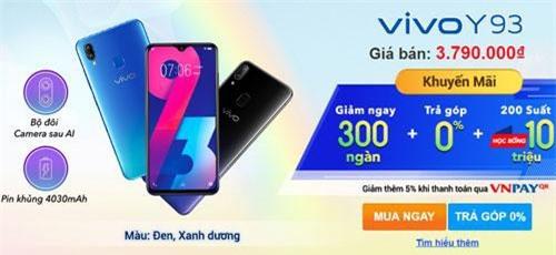 Người mua Vivo Y93 cũng được giảm 300.000 đồng.