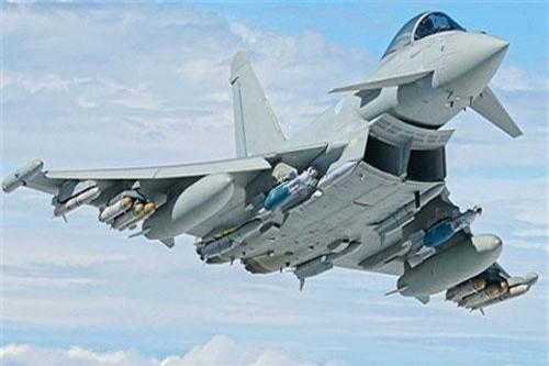 Máy bay Eurofighter Typhoon và tên lửa Brimstone giúp Anh giành được vị trí thứ hai của Nga