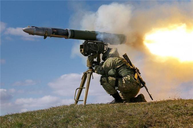 Phóng tên lửa chống tăng Kornet. Nguồn ảnh: Wikipedia