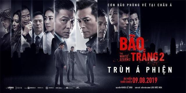 Bão trắng 2: Trùm á phiện đánh dấu sự trở lại của thể loại phim hành động xã hội đen nức tiếng điện ảnh Hong Kong một thời.