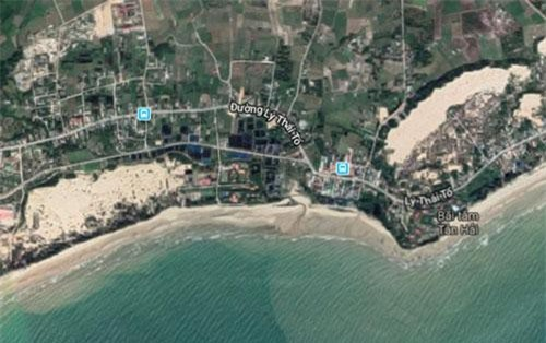 Khu vực bãi biển du khách gặp nạn