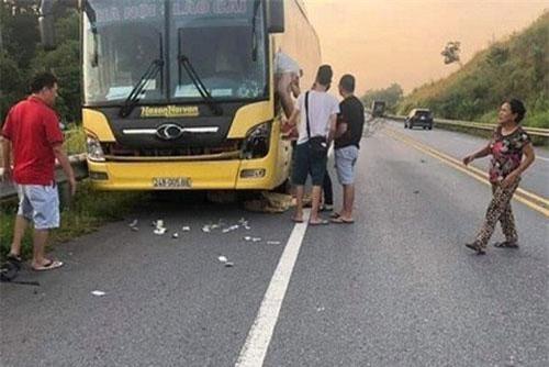 Hiện trường vụ tai nạn. (Ảnh: VOV)