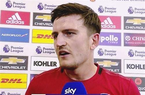 """""""Bom tấn"""" Harry Maguire nổ tưng bừng sau màn rực sáng ở trận gặp Chelsea - 1 Sky Sports đã chọn Harry Maguire là cầu thủ xuất sắc nhất trận"""