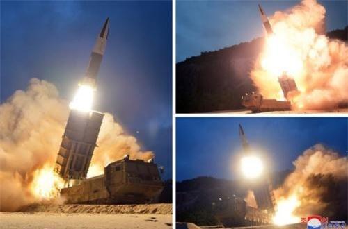 Hôm 10/8, Cộng hòa Dân chủ Nhân dân Triều Tiên thực hiện vụ phóng tên lửa đạn đạo thế hệ mới do nước này phát triển. Nguồn ảnh: CACC