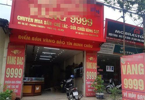 Tiệm vàng bị trộm tài sản trị giá khoảng 1,8 tỷ đồng
