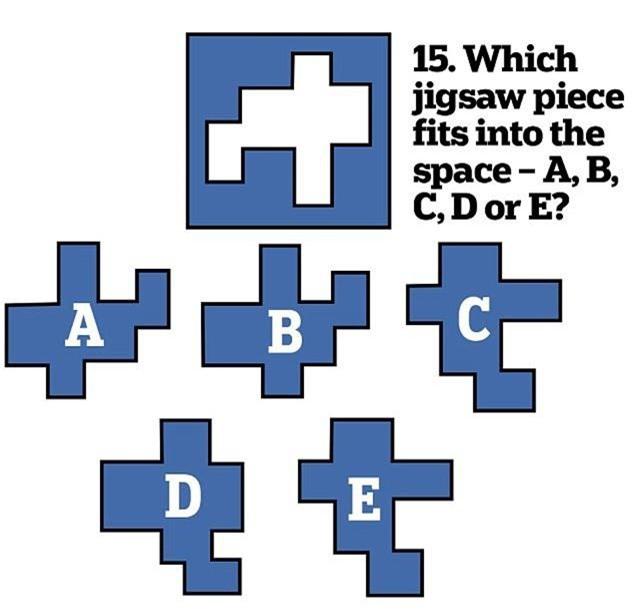 15. Hình zic zac này tương ứng với hình A.B, C hay D?