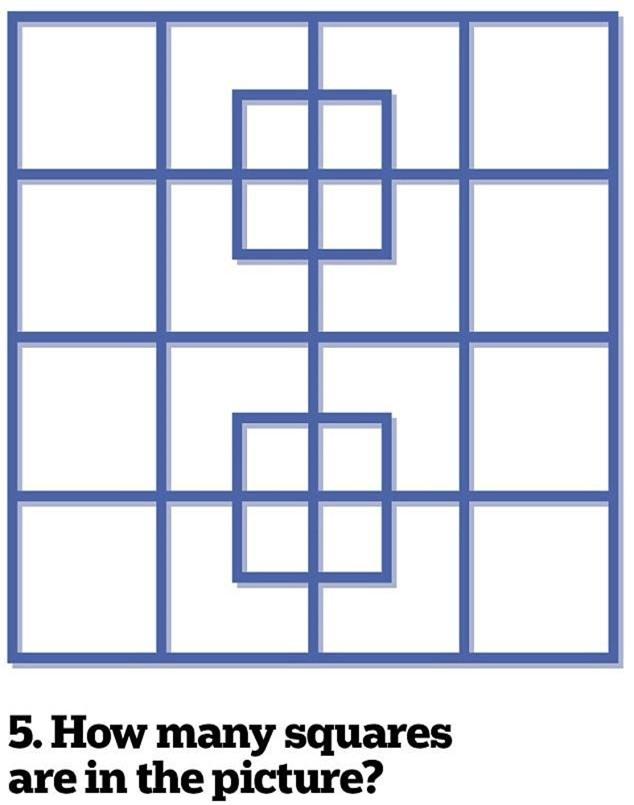 5. Trong ảnh có bao nhiêu hình vuông?