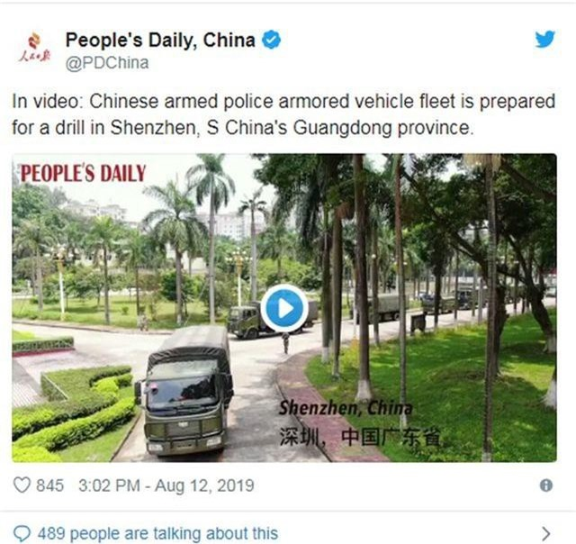Xe thiết giáp Trung Quốc xuất hiện gần Hong Kong - 2