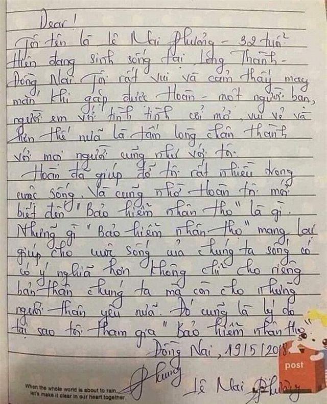 Kẻ xấu viết thư tay giả danh là Mai Phương.