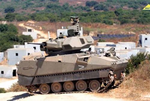 Trong những video mới nhất vừa được Quân đội Isarel đăng tải, nước này đã phô diễn sức mạnh của những hệ thống phương tiện chiến đấu được cho là thế hệ xe chiến đấu bộ binh tiếp theo của nước. Nguồn ảnh: NDTV.