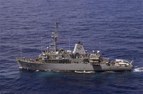 """Trong trường hợp Hải quân Iran sử dụng chiến thuật rải thuỷ lôi để """"bế quan toả cảng"""" thì trong tay Hải quân Mỹ cũng đã có sẵn lực lượng tàu phá lôi quy mô không quá lớn những cũng đủ để đối phó được chiến thuật này từ phía Tehran. Nguồn ảnh: BI."""