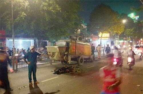Hiện trường tai nạn 2 người chết trên đường Quang Trung