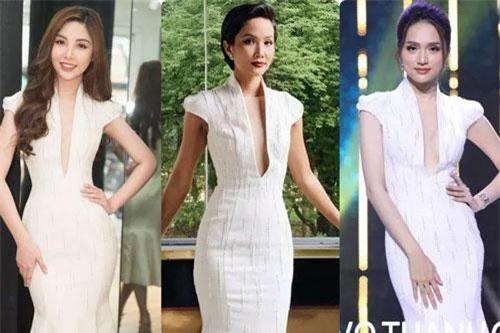 Người đẹp không ngại ngần khi lựa chọn lại chiếc đầm mà Hoa hậu H'Hen Niê, Hoa hậu Hương Giang từng mặc.