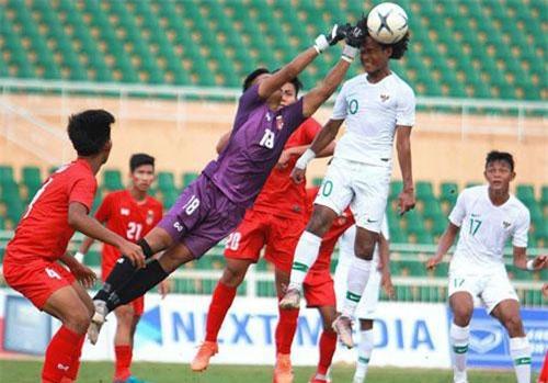 U18 Indonesia và Myanmar cùng giành vé vào bán kết.