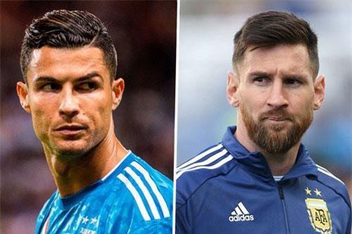 Ronaldo và Messi (phải).