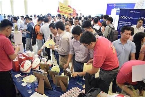 Nhiều doanh nghiệp giới thiệu sản phẩm tại Diễn đàn Tiếp thị trực tuyến