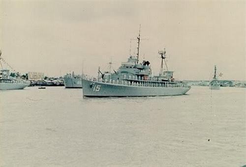 Chiến hạm HQ-01 khi còn là HQ-15 của Hải quân Việt Nam Cộng Hòa. Ảnh: Tiền Phong.