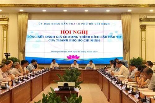 Hội nghị tổng kết chương trình kích cầu đầu tư của TP.HCM. (Ảnh: Báo Người động).