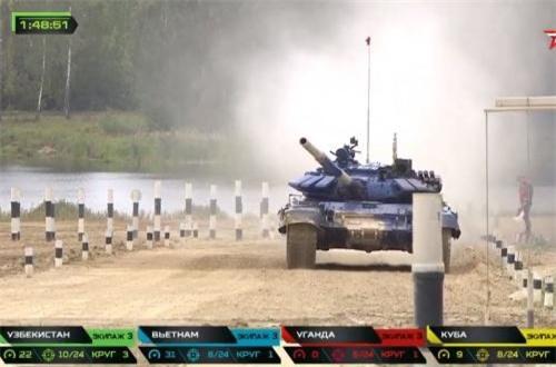 Xin chúc mừng Đội tuyển xe tăng Việt Nam nói riêng và Binh chủng Tăng – Thiết giáp, Quân đội Nhân dân Việt Nam nói chung. Nguồn ảnh: Tzvezda