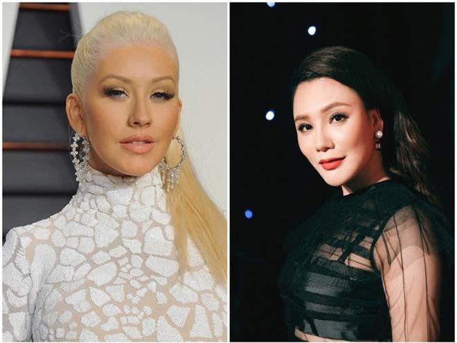1980: Christina Aguilera và Hồ Quỳnh Hương.