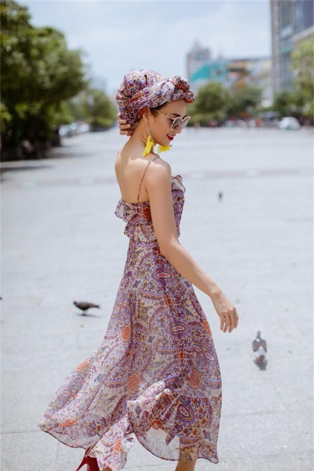 Hoa hậu Ngọc Diễm gợi ý mặc đẹp xuống phố - Ảnh 4.