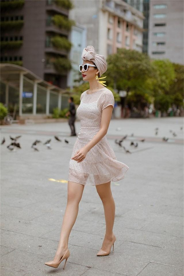 Hoa hậu Ngọc Diễm gợi ý mặc đẹp xuống phố - Ảnh 7.