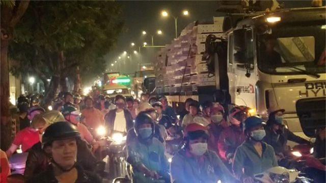 Hơn 100 người giúp tài xế gom 2,7 tấn cá bị đổ tràn trên quốc lộ - 3