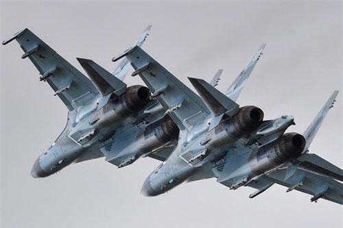 """Theo cơ quan truyền thông Hội thao quân sự quốc tế 2019 ( Army Games 2019), cuối tuần rồi lễ khai mạc cuộc thi phi công quân sự Aviadarts chính thức diễn ra mới """"bắn phá điên cuồng"""" của các máy bay chiến đấu tiên tiến Không quân Nga. Ảnh: Bộ Quốc phòng Nga"""