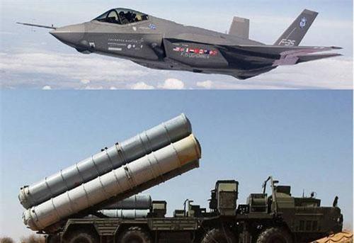 Chiến đấu cơ F-35 của Mỹ và tổ hợp phòng không S-400 của Nga. Ảnh: Topwar